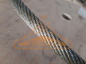 Fune 19x7 antitorsione in acciaio zincato