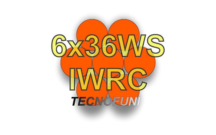 Funi 6x36WS + IWRC in acciaio lucido e zincato