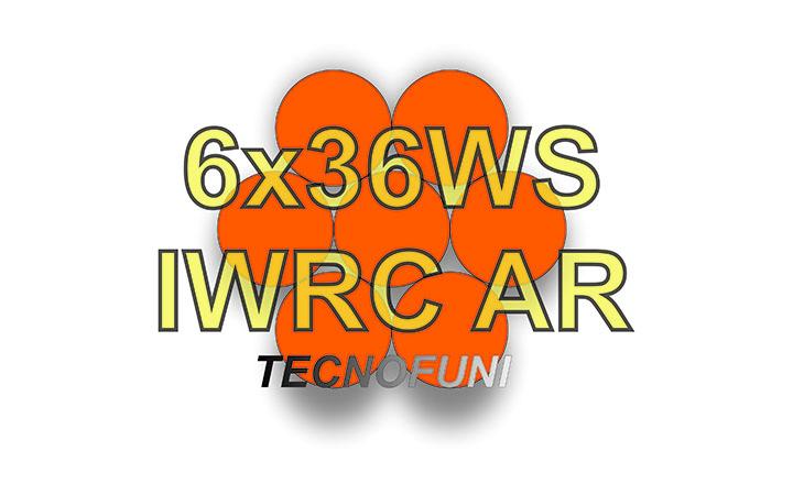 Funi 6x36WS + IWRC AR in acciaio zincato