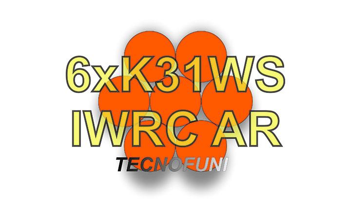 Funi 6xK31WS + IWRC AR in acciaio zincato