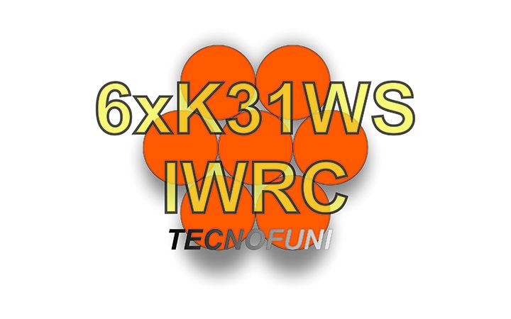 Funi 6xK31WS + IWRC in acciaio lucido
