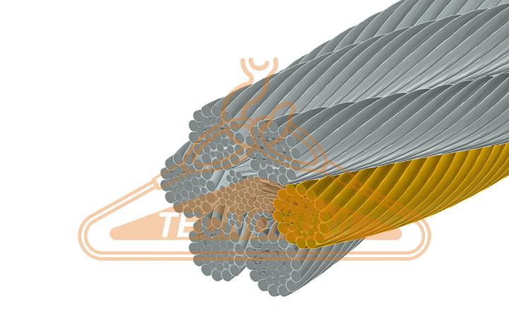 Fune acciaio zincato 265 fili Alta Resistenza 6x36WS + IWRC