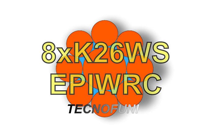 Funi 8xK26WS +EPIWRC in acciaio lucido