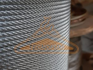 Fune acciaio zincato a 49 fili tipo 7x7 per tensostrutture