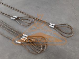 Tiranti asola-asola in fune di acciaio lucida