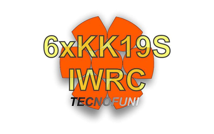 Funi 6xKK19S + IWRC in acciaio lucido