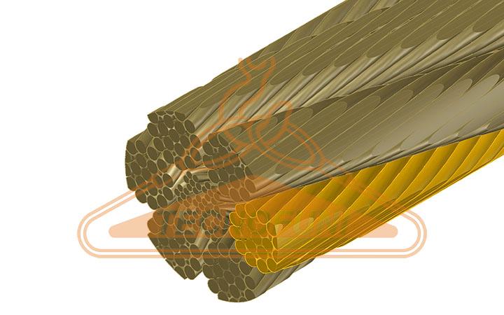 Fune acciaio super martellata 150 fili Filler alta resistenza anima metallica