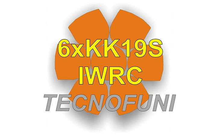 Funi Forestali Martellate 6xKK19S - IWRC in acciaio lucido