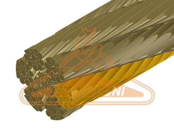 Fune Forestale Super Martellata 114 fili con anima metallica