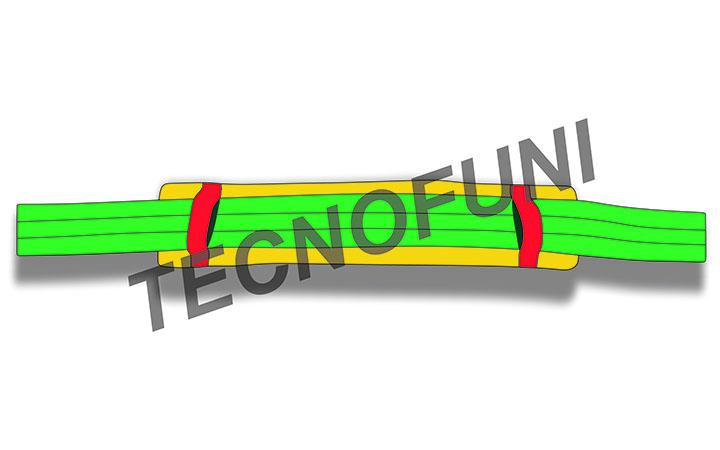 Paraspigoli scorrevole in nastro poliestere - Protezioni antitaglio per fasce di sollevamento e funi tessili